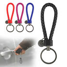 Leather Braided Key Chain Strap Fob Ring Car Bag Pendant Home Keychain Holder