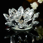 7 Colors Crystal Glass Lotus Flower Candle Tea Light Holder Candlestick Decor RO