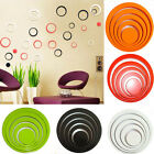 5pc Indoors Decoration Circle Stereo Removable 3d Art Wall Sticker Home Decor Ro