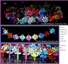 Ceramic Christmas tree light  90 CLEAR CANDLE Blossom OR 9 color top bulb twist  image