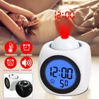 Projection LED Digital Time Alarm Clock Multi-function Voice Talking Temperature