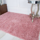 Cosy Thick Soft Pink Shaggy Rug Fluffy Millennial Blush Non Shed Living Room Mat