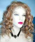 Blonde Mix Full Lace Wig 100% Indian Human Hair Remi Remy Wavy Curly #27/613