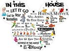 In This House We Do Disney Quote Rules Vinyl Nursery Wall Art Sticker Transfer