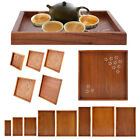Внешний вид - Wood Serving Tray Food Tea Table Bamboo Tray Coffee Plate Rectangle/Square/Round