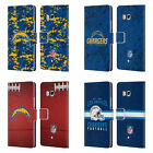 OFFICIAL NFL 2018/19 LOS ANGELES CHARGERS LEATHER BOOK CASE FOR HTC PHONES 1