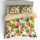 Single Double Twin Full Queen King Bed Pillowcase Quilt Cover rust3 Pineapple hb