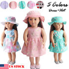Doll Clothes Floral Dress For 18 inch Doll Girl/Our Generation Journey Girl