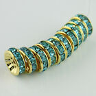10mm Czech Crystal Gold Round Spacer Beads for Bracelet Necklace Earrings DIY