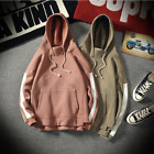 RETRO SIDE STRIPE HOODIE SALMON PINK COFFEE BROWN HOODED TOP JUMPER STREETWEAR