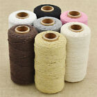 100Yard Macrame Rope Black/Pink Cotton Twisted Cord Hand Craft String DIY Supply