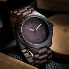 UWOOD Wooden Watches for Men Relogio Masculino Black All Solid Mens Wood Watch image