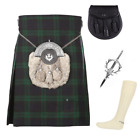 4 Piece Kilt Package with Pin Hose and Sporran - Sizes 30-44 - Black Watch