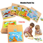 Sale Animal/Traffic Puzzles Wooden Cartoon Jigsaw 3D Puzzle Jigsaw Natural Wood