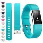 Fitbit Charge 2 Replacement Sports Band Strap Silicone Wrist Watch Bands Fit Bit
