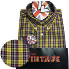 Warrior UK England Button Down Shirt DOUBLE BARREL Hemd Slim-Fit Skinhead Mod