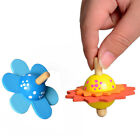 1pc Classic Wooden Spinning Top Peg-Top Flower Shape for Over 3Y Children Gifts