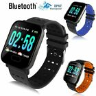 Bluetooth Smart Watch Blood Pressure Heart Rate Monitor Fitness Universal