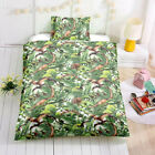 Single Double Twin Full Queen Bed Set Pillowcase Quilt Cover RUsT5 Dinosaur Gree