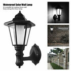 US Outdoor Solar Power LED Light Path Way Wall Landscape Mount Garden Fence Lamp