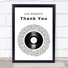 Thank You Vinyl Record Song Lyric Quote Print