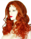 Glueless Silk Top Remi Remy Full Lace Wig Human Hair Indian Auburn Red Long