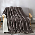 Super Soft Sherpa Blanket Double Layer Sofa Bed Thick Warm Winter Blankets image