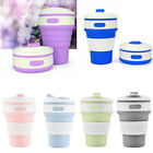 350ml Collapsible Travel Cup Silicone Mug Coffee Mugs Reusable Folding Cup Gift