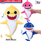 Pinkfong Soft Dolls Baby Shark With Music Cute Animal Stuffed Plush Baby Shark