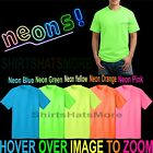 Mens T-Shirt NEONS Classic Cotton Blend Neon Glow S, M, L, XL, 2XL, 3XL, 4XL NEW image