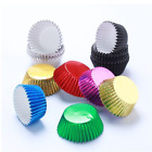 100pcs Aluminum Thickened Foil Cups Cupcake Liners Mini Cake Muffin Baking Molds