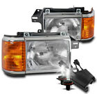 FOR 87-91 FORD BRONCO F150 F250 F350 PICKUP REPLACEMENT HEADLIGHTS W/50W 8K HID