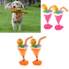 2x Cold Drink Cup Ice Cream Dog Animal Cat Extruded Toy Fun Novelty Gift