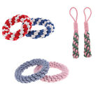 2 Count Natural Cotton Knitted Rope Toys for Large Dog Breeds