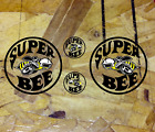 Super Bee Superbee Vinyl Circle Decal Stickers Body Hood Fender Racing 3 for 1  for sale