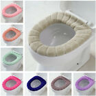 Bathroom Toilet Seat Cover Soft Knitting Fabric Case Pad Winter Warm Mat 1pc