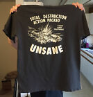 New VTg UNSANE T Shirt Total Destruction 1994 T-shirt gildan  Reprint image