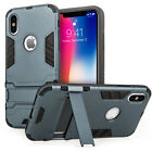 Heavy Duty Armour Case For The Apple iPhone X Shockproof Best Tough Stand Cover