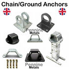 Security Chain Anchors + BOLTS - Black or Galvanised Motorbike Trailer Boat 4x4