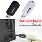 USB Bluetooth Receiver Music Audio Dongle+3.5 mm Jack AUX Adapter Car Speaker