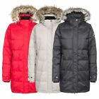Trespass Ophelia Women's DLX Down Insulated Parka Jacket in Red White & Black