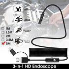 1-5M LED WiFi Borescope Endoscope Snake Inspection Camera For iPhone Android iOS