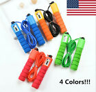 Jump Rope Counter Gym Fitness Exercise Skipping Fits Adults Kids Adjustable  image