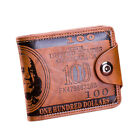 Mens Wallet US  Dollar Faux Leather Bifold Credit Card Keys Wallet Purse