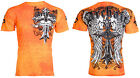 ARCHAIC by AFFLICTION Mens T-Shirt LUSTROUS Skulls Wings Tattoo Biker UFC $40 a image