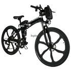 26inch 21 Speed Foldable Electric Power Mountain Bicycle Lithium-Ion Out Sport~