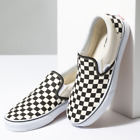 NEW IN THE BOX VANS CLASSIC SLIP-ON BLACK/OFF WHITE CHECK VN000EYEBWW FOR WOMEN