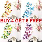 12pcs 3d Butterfly Wall Stickers Art Decals Home Room Decorations Decor Gifts Uk
