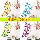 48pc/set 3d Butterfly Wall Stickers Art Decal Home Room Decorations Love Gift Ro