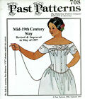 Внешний вид - CORSET WITH GUSSETS SEWING PAST PATTERN HISTORICAL CIVIL WAR VICTORIAN WOMAN 708